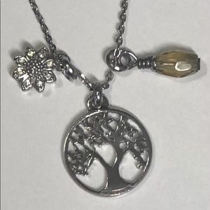 New! Fossil Tree of Life Cluster Pendant Necklace